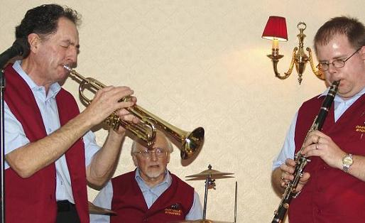 Graham, Ron and Jeremy, Dart Valley Stompers Jazz Band