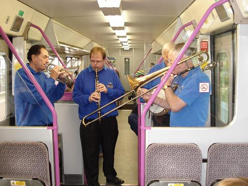 The Dart Valley Stompers on the Jazz Train